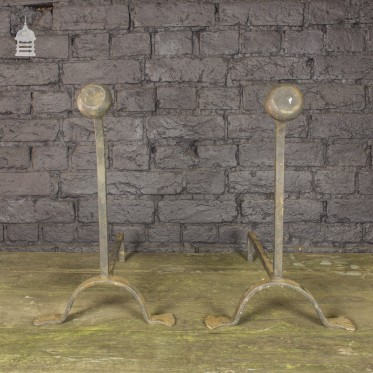 Wrought Iron Fire Dogs/Andirons