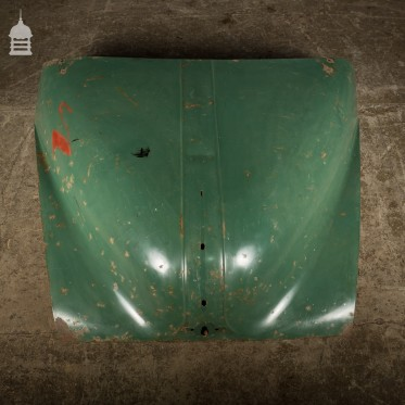 Vintage Green Morris Minor 1000 Bonnet with Distressed Paint