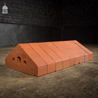 Batch of 240 Modern Red Angled Wall Coping Engineering Bricks