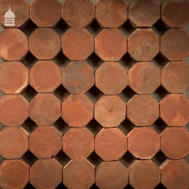 Batch of 588 Octagonal Britannia Red Floor Tiles