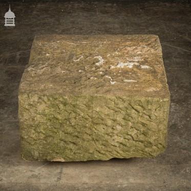 Large Reclaimed Hand Chiselled Sandstone Plinth Base