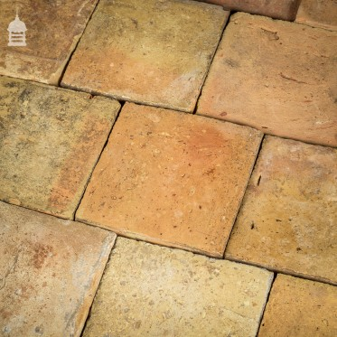 Batch of 200 Reclaimed Handmade Buff Pamments Floor Tiles - 10.5 SqMs