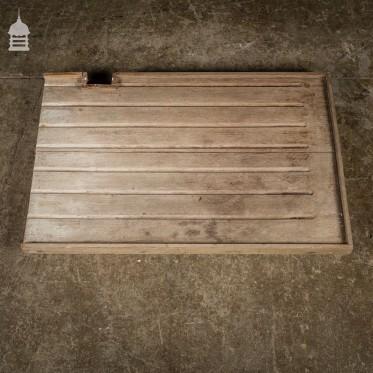 Reclaimed Mahogany Draining Board in Original Condition