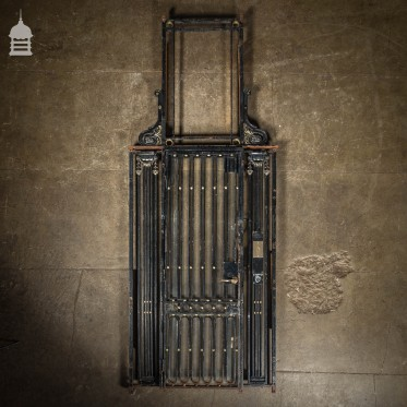 Circa 1900 Decorative Cast Iron Lift Entrance Elevator Gate