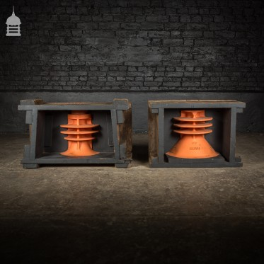 Batch of 2 Black and Red Industrial Foundry Moulds