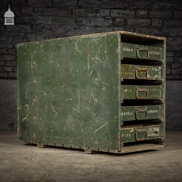 Industrial Green Tool Storage Drawer Unit