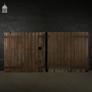 Reclaimed Double Barn Doors with Double Latch Mechanism