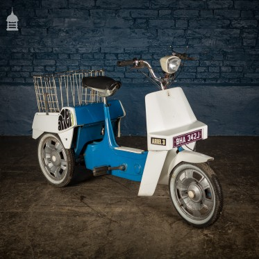 1970's Blue BSA Aerial 3 50cc Motorised Tricycle Moped