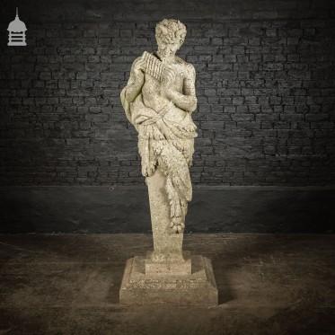 20th C 6.5ft Haddonstone Statue of Pan