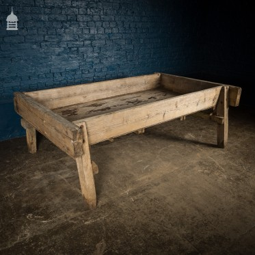 Large Bygone Oak and Pine Wooden Animal Feed Trough