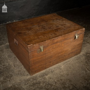 Large 19th C Elm Trunk Chest