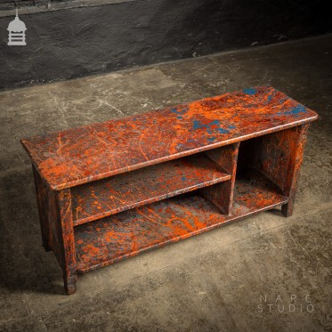 NARC Studio TV Stand Made From Reclaimed Materials with 'Paint Shop' Finish