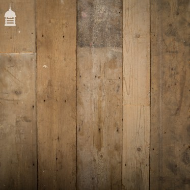 """Batch of 44 Square Metres of Mixed Width Wide Original Georgian Pine Floorboards Up to 11¾"""""""