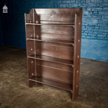 Arts and Crafts Brown Painted Bookshelf