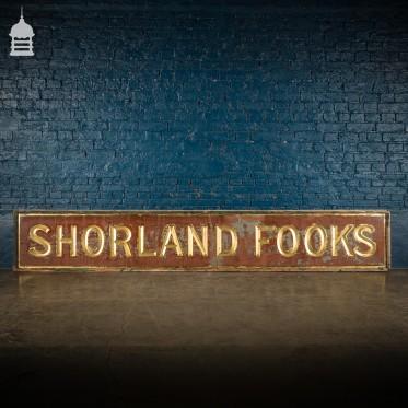 Glazed Gilt 'Shorland Fooks' 19th C Jewellery Shop Sign