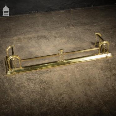 Art Nouveau Brass Fireplace Fender