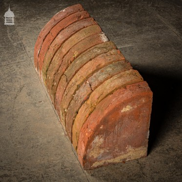 Batch of 13 Quarter Round Wall Coping 18th C Red Brick Copings