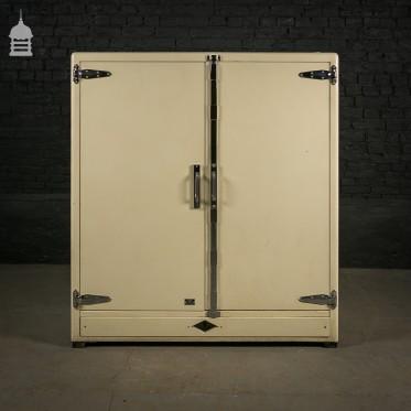 Rare Cream Deco Style Laboratory Cabinet