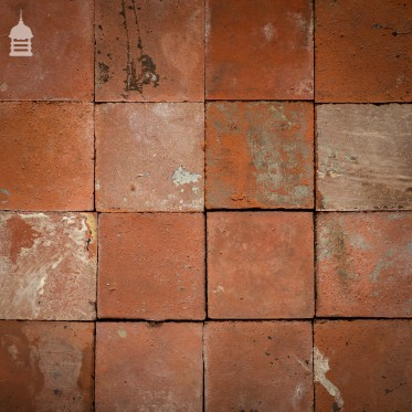 "Batch of 379 Rustic 6"" x 6"" Reclaimed Red Quarry Tiles 8.5 Square Metres"
