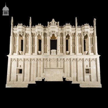 19th C Large Scale Gothic Church Reredos Built from Beer Stone 24ft x 17ft