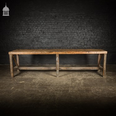 Large 3 Plank Industrial Rustic Table