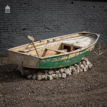 Nautical Garden Boat Display Complete with Granite, Anchor and Oar