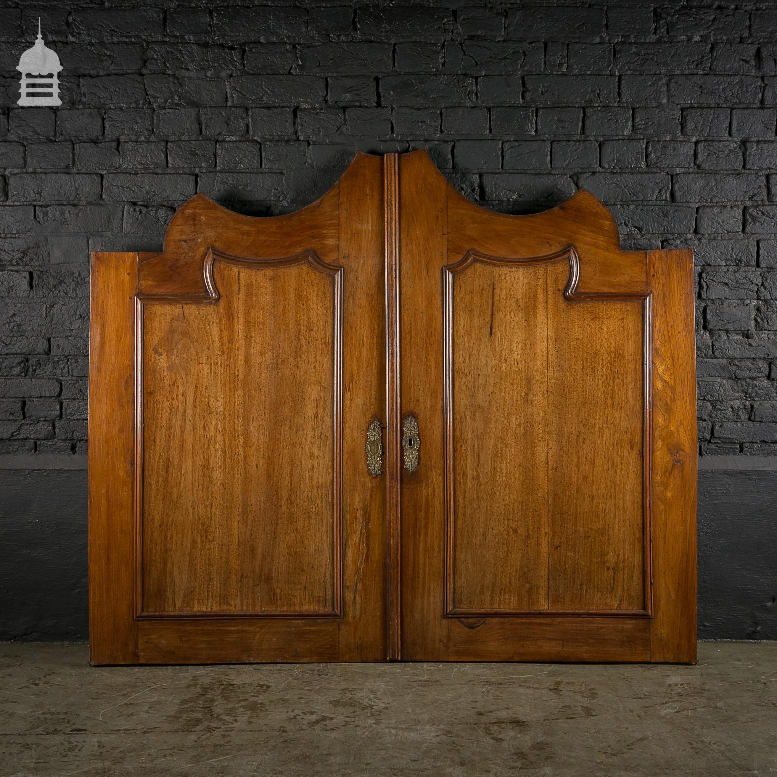 Large 19th c french mahogany cupboard doors for Mahogany french doors