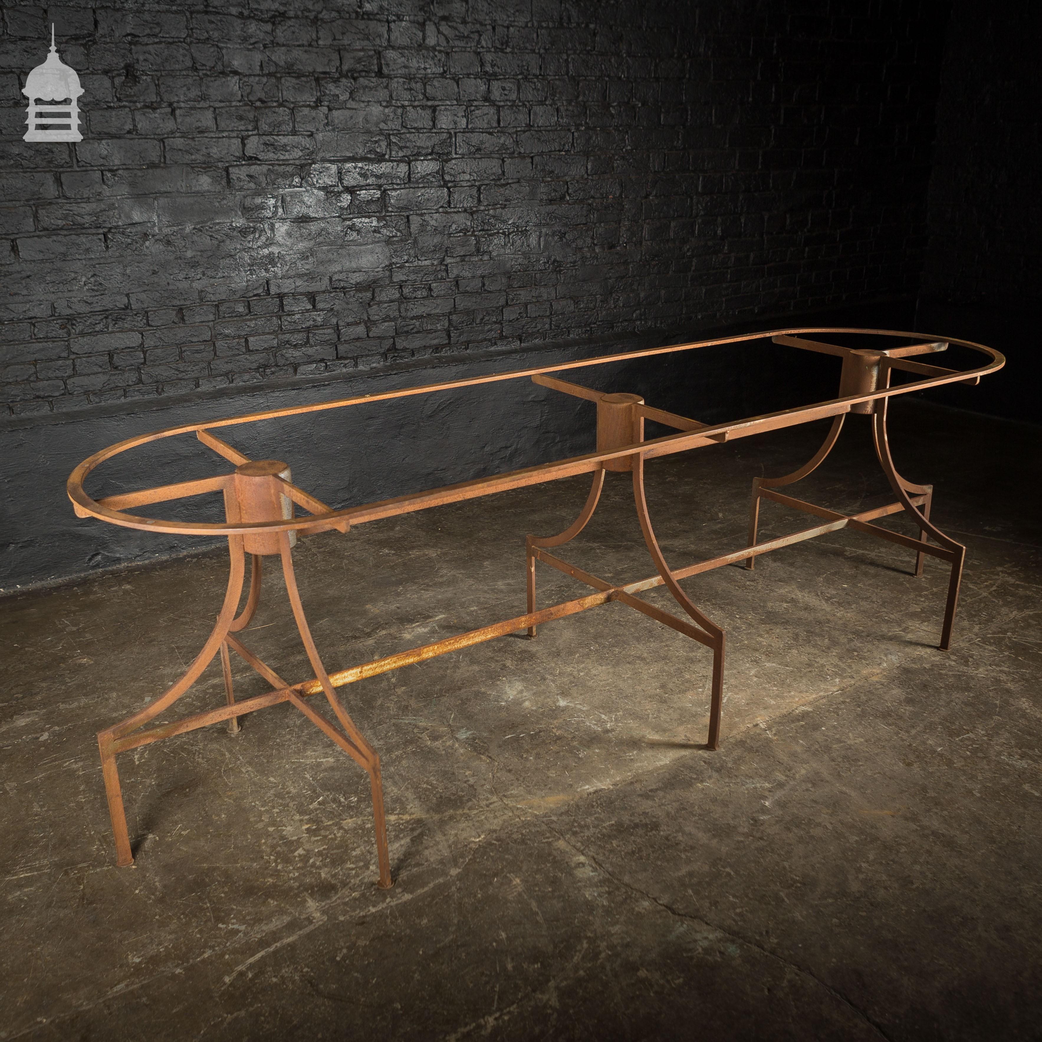 Vintage Bespoke Steel Industrial Table Base - Garden Furniture