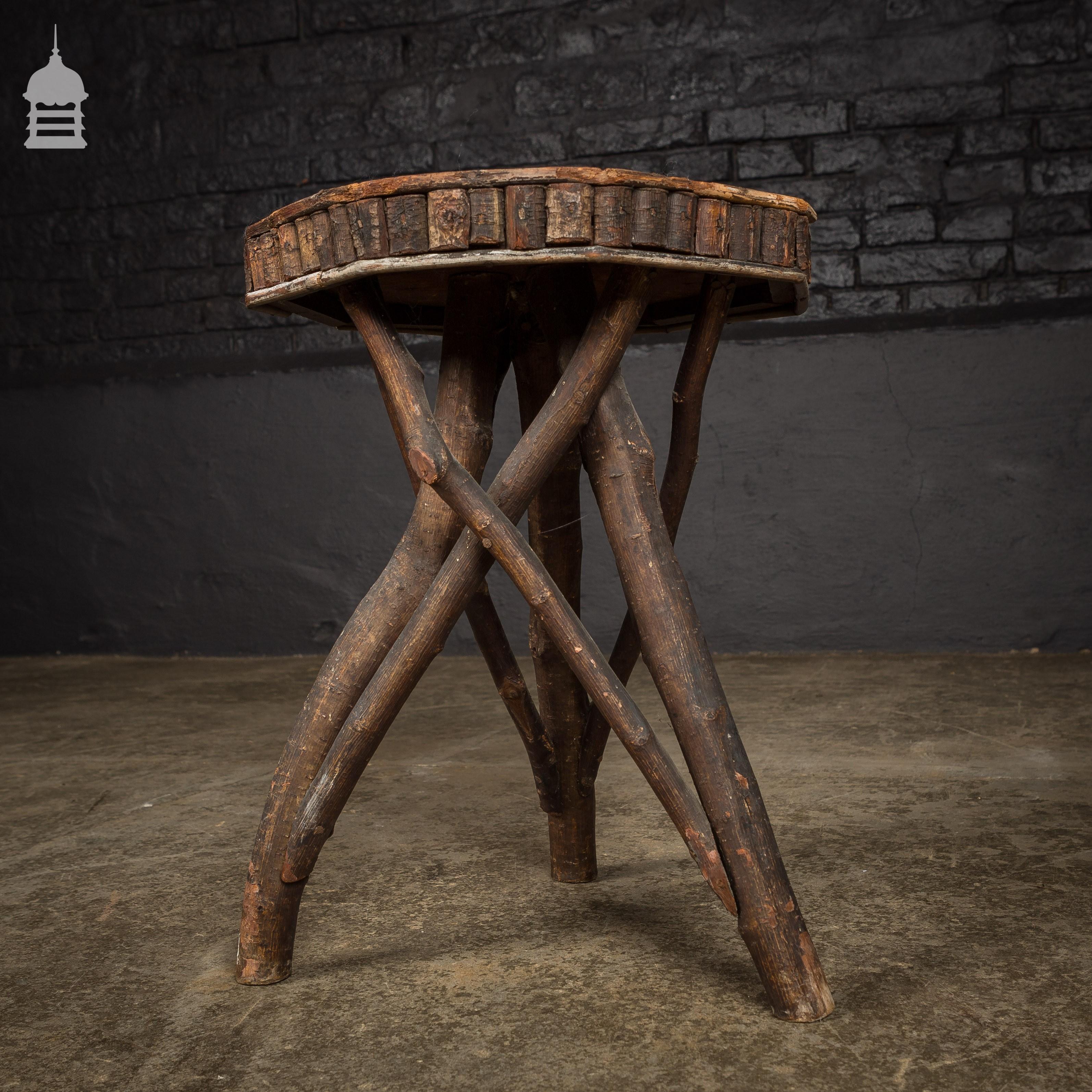 Super 19Th C Octagonal Starburst Folk Art Craft Stool Pabps2019 Chair Design Images Pabps2019Com