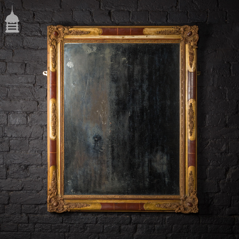 Large 19th C Mercury Mirror with Ornate Gilt Plaster Frame - Mirrors ...