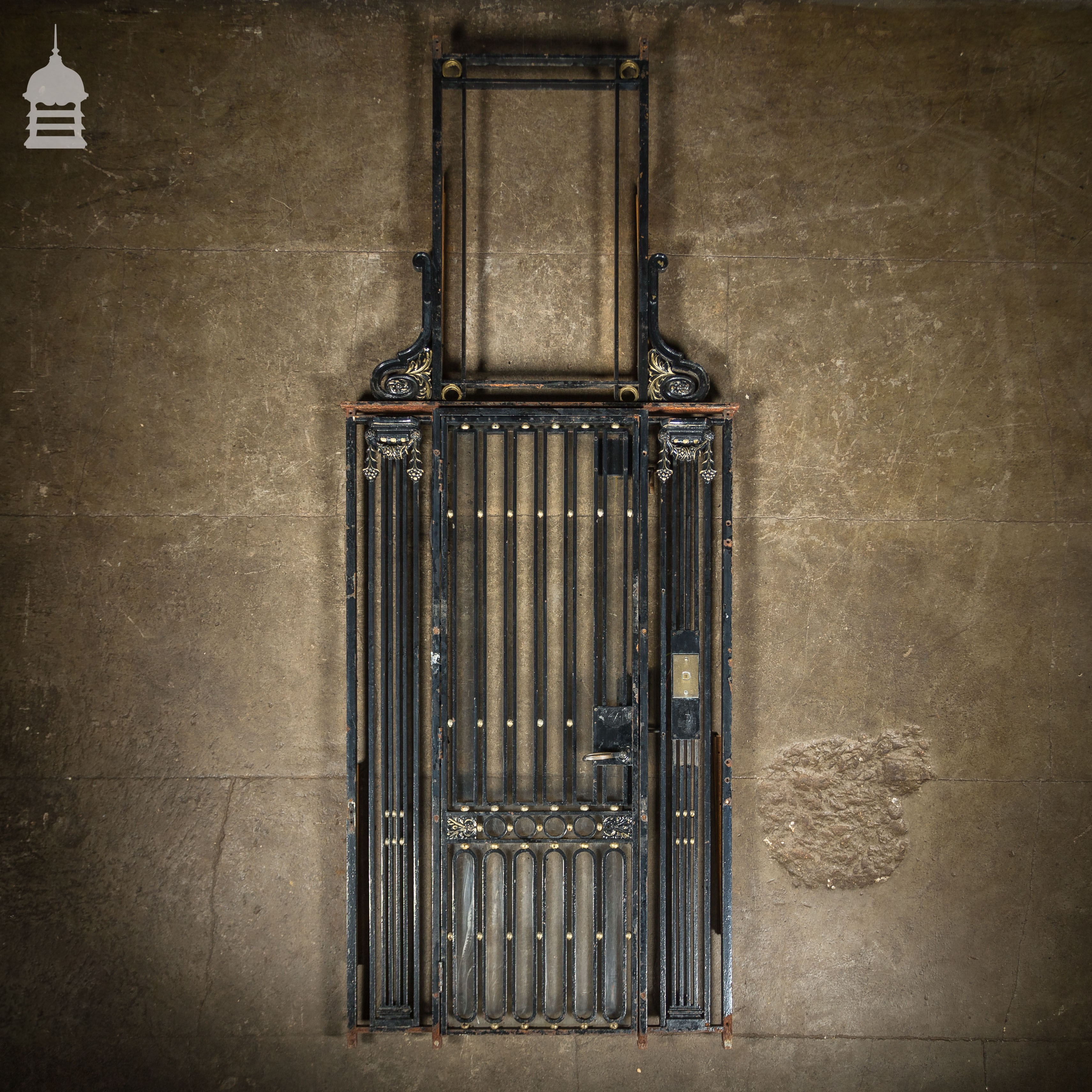 Circa 1900 Decorative Cast Iron Lift Entrance Elevator Gate