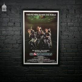 Framed Original 'GHOSTBUSTERS' Quad Movie Poster