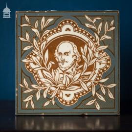 Minton, Hollins & Co Shakespeare Glazed Tile