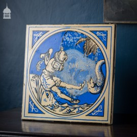 Minton, Hollins & Co Blue Glazed Tile