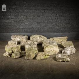 Batch of 16 Acid Rain Eroded Weathered Limestone Boulders