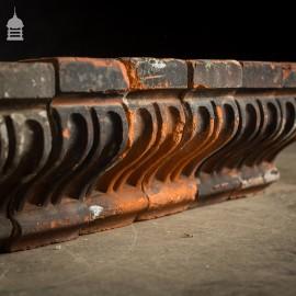 Batch of 100 Decorative 19th C Red Corbel Headers Bricks