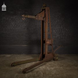Early 20th C Industrial Hoist Engine Crane by 'Mann Egerton & Co' of Norwich