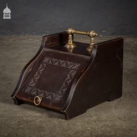 19th C Mahogany Coal Scuttle