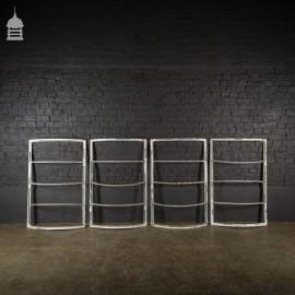Set of 4 Art Deco Steel Crittall Window Frames