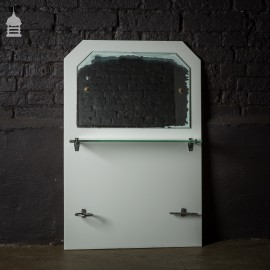 White Art Deco Bathroom Vanity Mirrored Splash Back