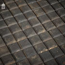 Batch of 488 Square Staffordshire Blue Chocolate Stable Bricks