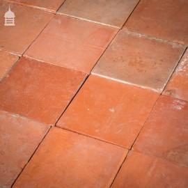 "Batch of 180 Reclaimed 9x9"" Red Quarry Tiles Floor Tiles"