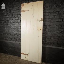 17th C White Painted Ledged and Braced Pine Internal Cottage Door