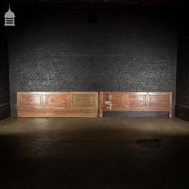 Pair of Victorian Low Level Mahogany Panels
