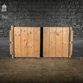 Pair of 19th C Bygone Pine Barn Hatch Doors