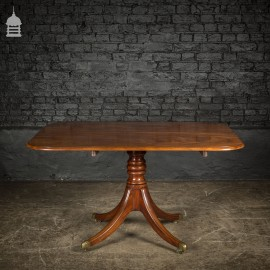 Regency Cuban Mahogany Flip Top Breakfast Table with Turned Pedestal