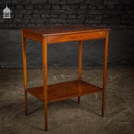 Fine Edwardian Inlaid Flame Mahogany Table