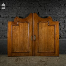 Large 19th C French Mahogany Cupboard Doors