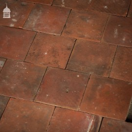 "Batch of 308 Reclaimed Red 7"" x 7"" Quarry Tiles Floor Tiles – 9.5 Square Metres"