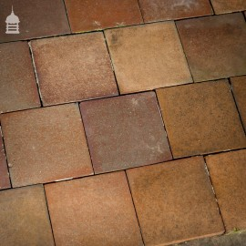 "Batch of 194 Heather Brown 6""X6"" Quarry Tiles Floor Tiles – 4 SqMs"